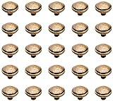 EMUCA Tirador para mueble, pomo para cajón, Zamak, Acabado bronce, Set de 25