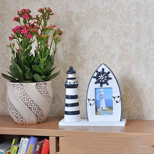 Mediterrane decoratie handgeschilderde tafel creatieve fotolijst licht boot combinatie fotolijst marine serie helmsman creatieve huis zeesterren sh(* Alleen voor fotolijsten, andere decoraties zijn voor
