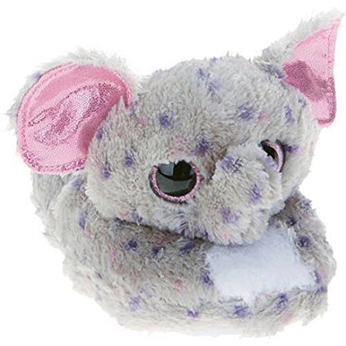 Ty Beanie Boos Kids Girls Big Head Animal Toy Non Skid Plush Slippers (See More Designs Colors and Sizes) (Specks Elephant, x_l)