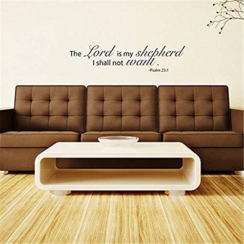 pegatina de pared frases Biblia El Señor Es Mi Pastor No Querré Para El Dormitorio De La Sala De Estar