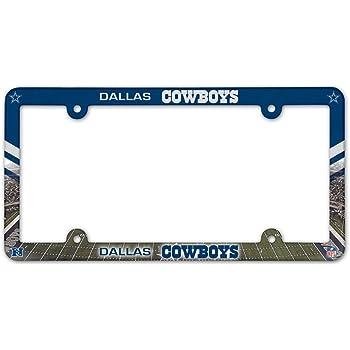 Dallas Cowboys NFL Plastic License Plate Frame 2 Pack