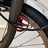 ACEOFFIX Cable Fender Protector for Brompton in RED