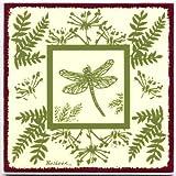 Dragon Fly Tile, Botanical Wall Plaque, Botanical TRIVET-BB-11