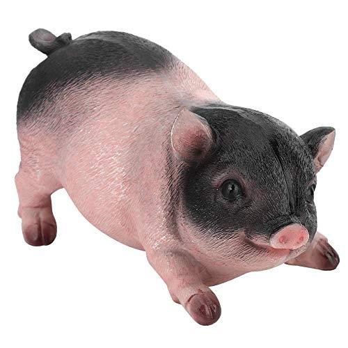 Petite Statue de Cochon pour Le Jardin Statue de Résine Cochon Sculpture Jardin Animaux Résine Petit Cochon Animal Figurines Sculptures Décoration de La Maison Pelouse Jardin Patio Ornements