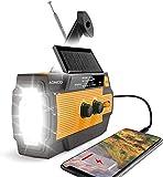 Best Crank Radios - 2020 Newest Emergency Crank Radio,4000mAh-Solar Hand Crank Portable Review