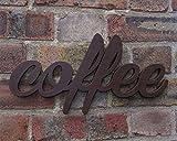 Letrero de café con corazón dorado opcional para los amantes del café y cafetería, bar, restaurante, cafetería, cocina, accesorios para el hogar y el jardín marrón marrón