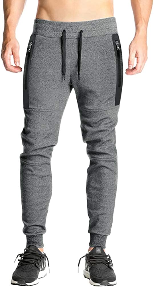 FASKUNOIE OFFer Men's Joggers Slim Fit Cotton Pants Sports Swe Running Lowest price challenge
