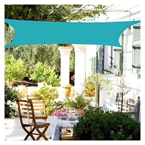 GAOYUY Toldo Vela De Sombra, Rectángulo Toldo De Vela Resistente Al Agua para Jardín, Patio, Parasol 95% De Bloqueo UV Azul Y Naranja (Color : Blue, Size : 4x4m)