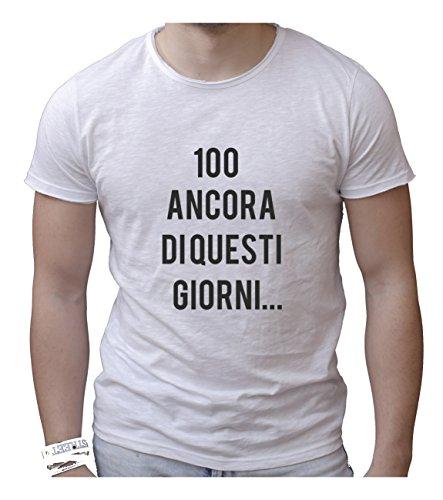 Social Crazy heren t-shirt, van katoen, vlamvertragend, ronde hals met levendige snit – 100 Ancora – grappige humor Made in Italy