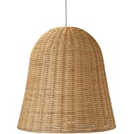 Kouboo 1050043 Wicker Bell Pendant Lamp, Natural
