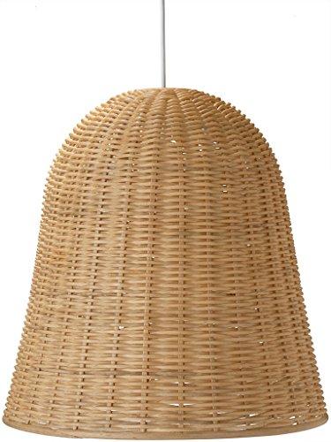 KOUBOO - Lámpara colgante de mimbre (mimbre), color natural
