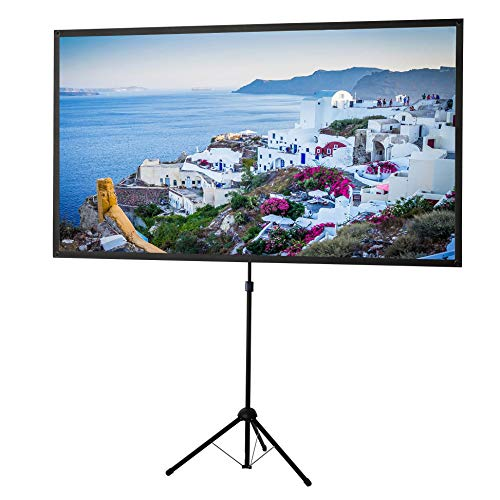 celexon 80inch Projector-Screen with Stand, Indoor Outdoor Portable Projection-Screen for Home Theater, 4K HD 16:9 Projection-Screen Wrinkle-Free Design