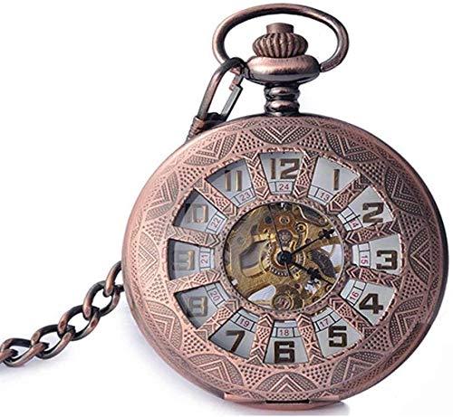 Reloj de bolsillo clásico Vintage Flip Masquinia de moda Reloj de bolsillo Cadena de Navidad Regalo de graduación de cumpleaños,A