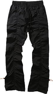 Męskie spodnie składane, elastyczność Głębokie kolory Luźne męskie spodnie dresowe ze sznurkiem Elastyczność Wiatroodporne...