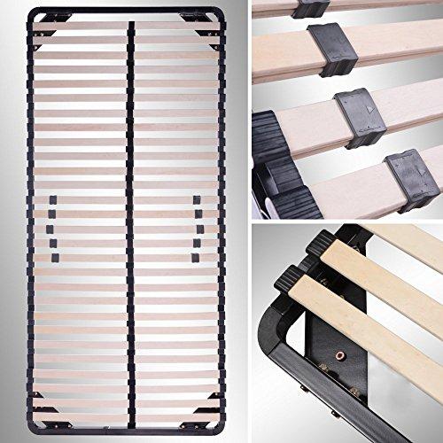 i-flair® Lattenrost 90x200 cm, Lattenrahmen - für alle Matratzen geeignet - alle Größen