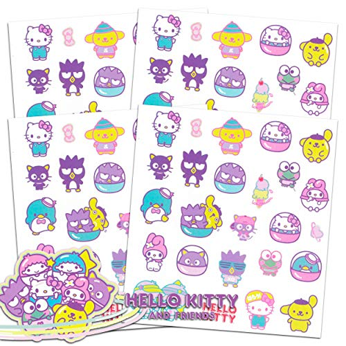 Hello Kitty Stickers and Tattoos Party Favor Bundle ~ 120 Stickers and 100 Temporary Tattoos