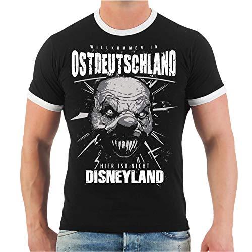 Männer und Herren T-Shirt Ostdeutschland Faust zum Gruß (mit Rückendruck) Größe S - 3XL