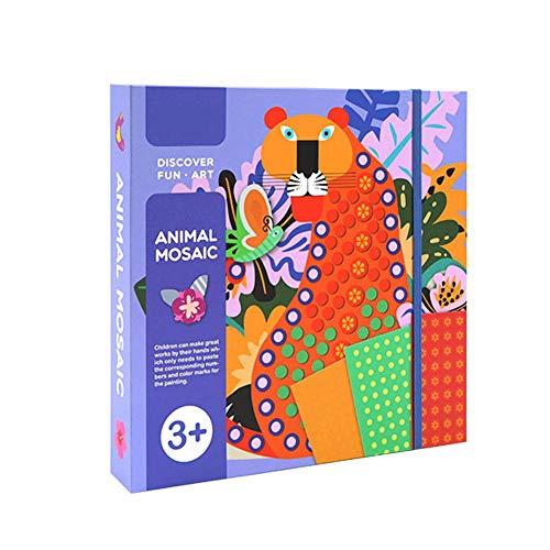 Diy Tabelle Handbuch Kinder Puzzle Kunst Tickets Malerei Aufkleber Kit Lernen Für Kinder