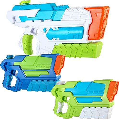 JOYIN 2 Pistole ad Acqua Potenti Bambini Adulti e 1 Fucile ad Acqua Grande Giardino ad Alta capacità Super Water Gun Giocattolo Piscina Spiaggia Sabbia