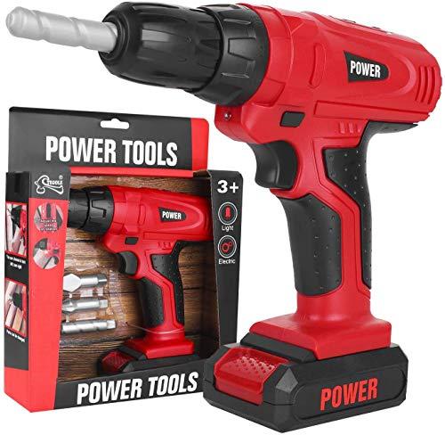 YOUNG CHOI'S Toy Tool, Kids Construction Spielzeugbohrer für Kleinkinder Kids Elektrowerkzeug-Bohrerset Boys Toy Work Shop Tools