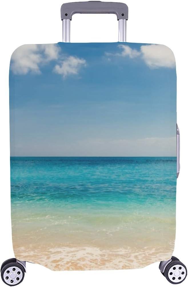 Sea Max 46% OFF View Tropical sale Beach Sunny Sky Travel Lu Case Trolley Spandex