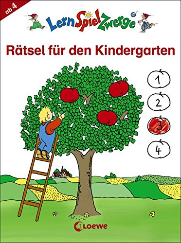 LernSpielZwerge - Rätsel für den Kindergarten (LernSpielZwerge - Mal- und Rätselblocks)