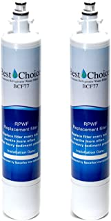 2-Pack GE RPWF Compatible By Best Choice Water Filters Certified Refrigerator Replacement Cartridge (Does not fit RPWFE)