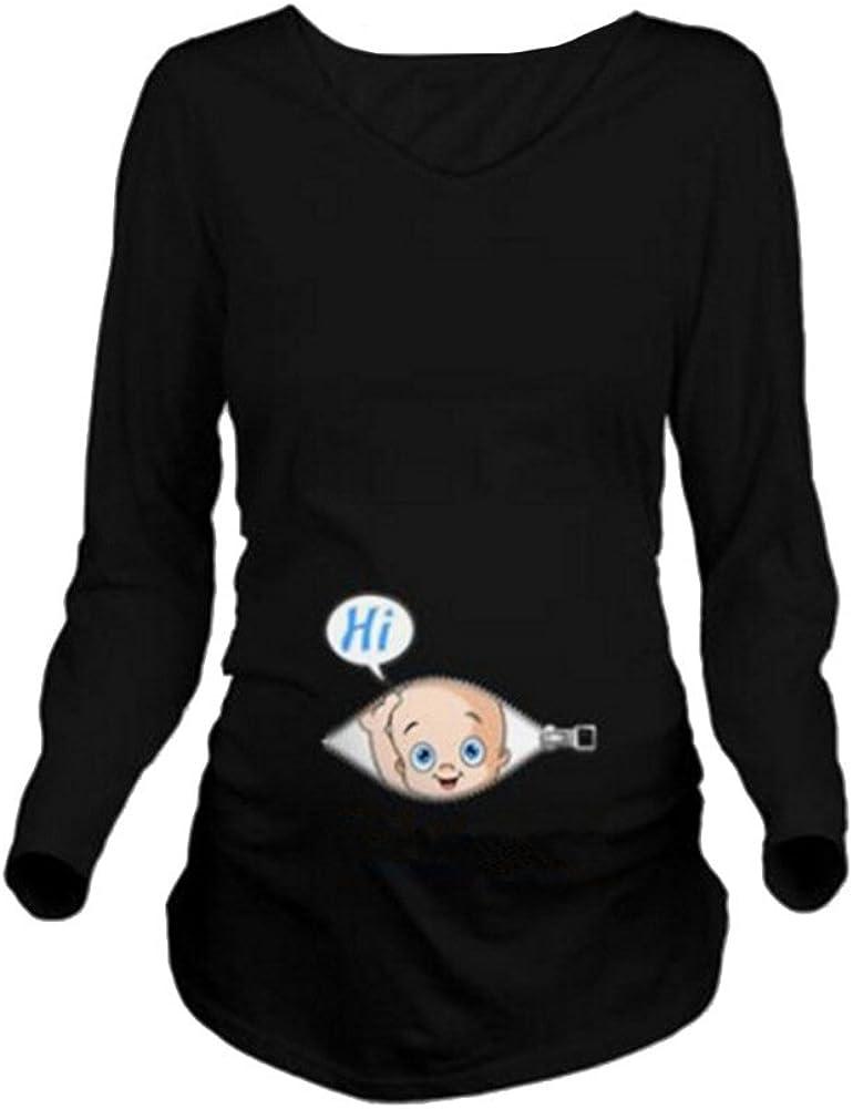 Humor Camisetas Embarazadas Embarazo Gracioso Camiseta Manga Larga