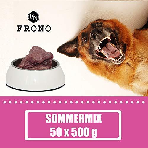 Komplettes Barfpaket Wintermix, 25 kg, 8 Verschiedene Fleischsorten für den Hund zum Barfen