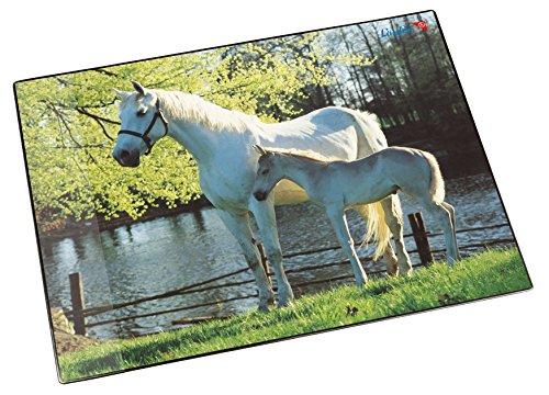 Läufer 30863 Motief-Poster schrijfonderlegger voetbal Paard en veulen aan zee Paard en veulen aan zee