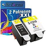 Tito-Express PlatinumSerie 2 Patronen XXL kompatibel mit Samsung INK-M210/215 und INK-C210 | Für CJX-1000 CJX-1050W CJX-2000FW | 1x Black 1x Color