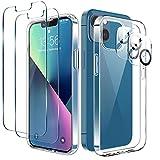 LK Cover Compatibile con iPhone 13 Mini 5.4 Pollici Custodia, 4 Pezzi - 2 Pellicola Protettiva...