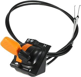 mewmewcat Conjunto de controle do cabo do afogador do acelerador AM140333 X300 500 Series 040001+ 020001+ apto para John D...