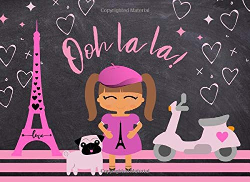 Ooh la la!: Guest Book for Cute Little French Parties | Chic Pink and Black Paris Theme | 250 guests and their messages