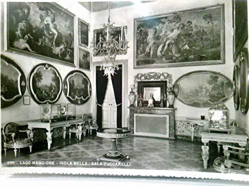 Lago Maggiore - Isola Bella - Sala Zuccarelli. AK s/w. Schloß Innenansicht, Gemälde, prachtvolle Möbel, Italien