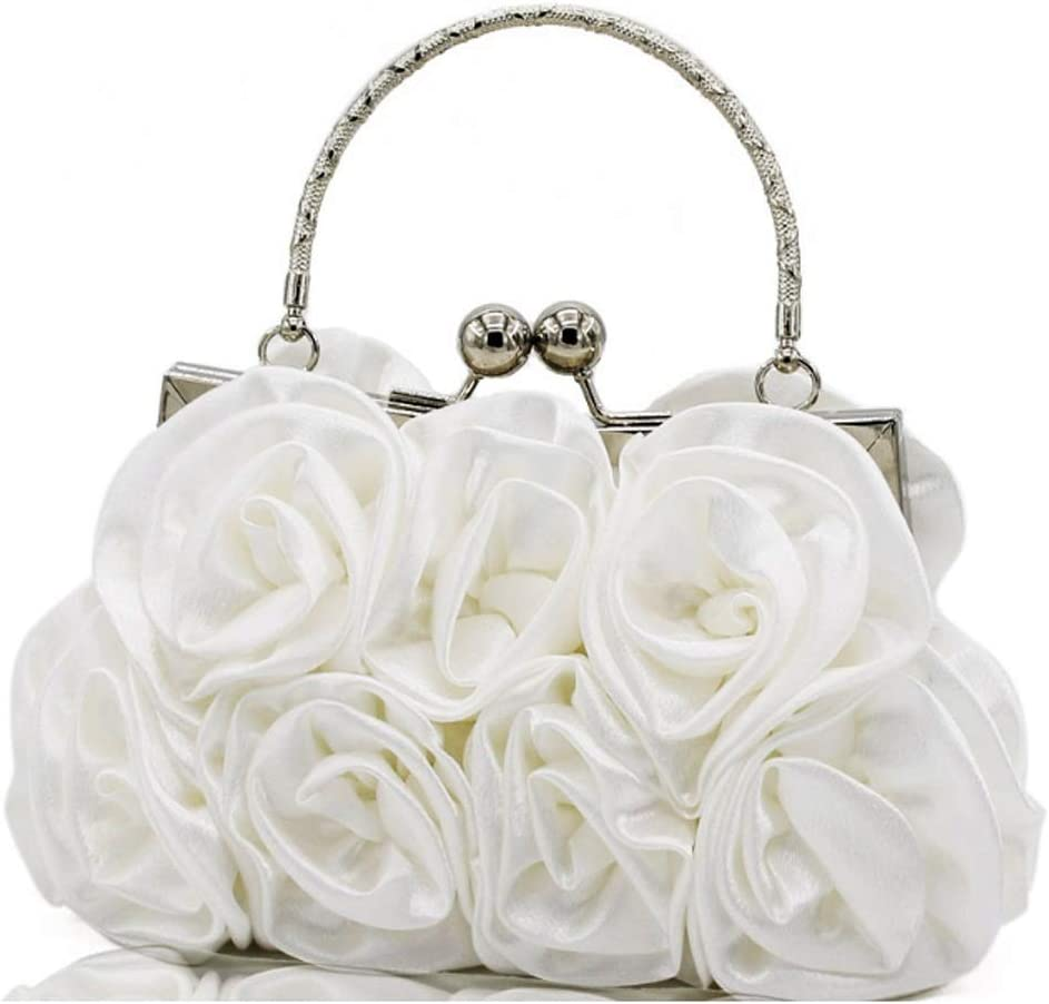 DJBYY Femmes Rose en Forme d'embrayage Doux Satin Sac à Main de soirée de Mariage Wristlet Sac à Main, Taille 20 * 5 * 12 cm (Color : B) B