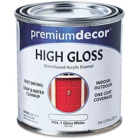 True Value PDL1-HP PD 1/2-Pint White Gloss Enamel