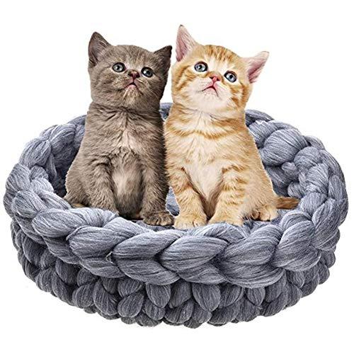 Nieuwe hand geweven dikke wollen Dierbenodigdheden zacht en comfortabel kattenmand Slaapzak kattenbakvulling Newborn fotografie rekwisieten Box