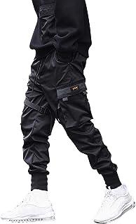 Litthing Herren Hose Cargo Jogging Hose Freizeithose Sportlich Hose Lang Casual Cargohose Pants mit Tasche,elastischer Bund mit Kordelzug,