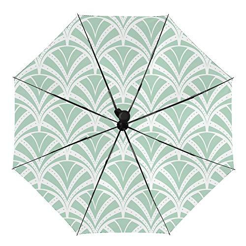 Paraguas plegable manual anti-UV impermeable resistente al viento impresión interior exterior vinilo con Apanese Art Deco paraguas cubierta para coche lluvia uso al aire libre