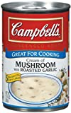 Campbell's Condensed Cream of Mushroom with Roasted Garlic Soup 10.75 oz (Pack of 12)