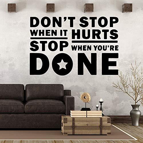 Stop muurstickers gym decoratie niet als woonkamer slaapkamer verwijderbare kunst sticker 43x64cm