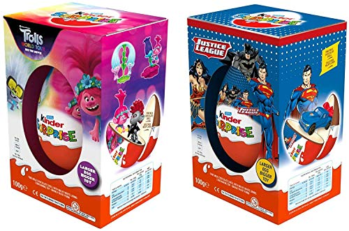 Huevos Kinder de chocolate con leche con superhéroe DC 1 para niño...