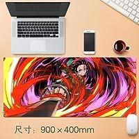 11Q 鬼滅の刃 Kimetsu no Yaiba Demon Slayer 大判マウスパッド パソコン 周辺機器 アニメ・キャラクター ゲーミング マウスパッド 巨大 適用 ファッション かわいい 萌え 90X40X0.3cm