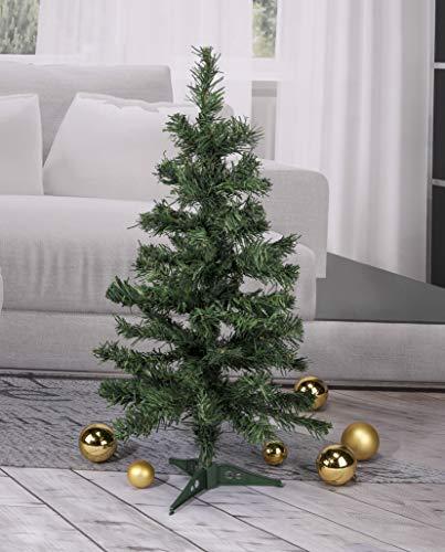 Haushalt International 60 cm Kunstweihnachtsbaum Kunsttanne Tannenbaum Weihnachtsbaum