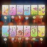 BUZIFU Faroles Chinos, 12 unids Farolillos Decoración de Colores de Año Nuevo Chino Farolillos de Papel con Patrones de Flores Linternas de Papel para Festival de Primavera Chino y Celebración