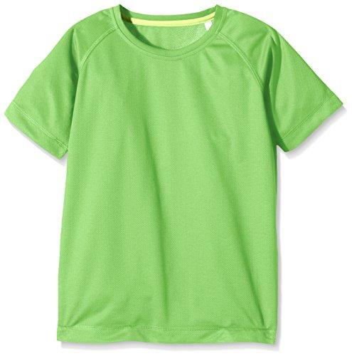 Stedman Apparel Active 140 Raglan/ST8570 T-Shirt, Verde (Verde Kiwi), 9-10 Anni Bambino