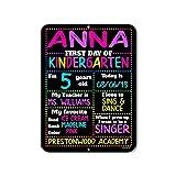 Honey Dew Gifts Chalkboard Style School Photo Prop Board, Kindergarten, Preschool, Reusable Tin Sign (First Day HDG-1116 9x12)