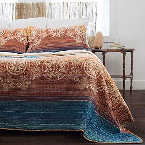 Pegasus Home Fashions Slumber Shop Sunset Gold Vintage Collection Quilt Set 3 Piece Full - Queen