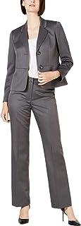 Le Suit Women's 2 Button Black Pant Suit